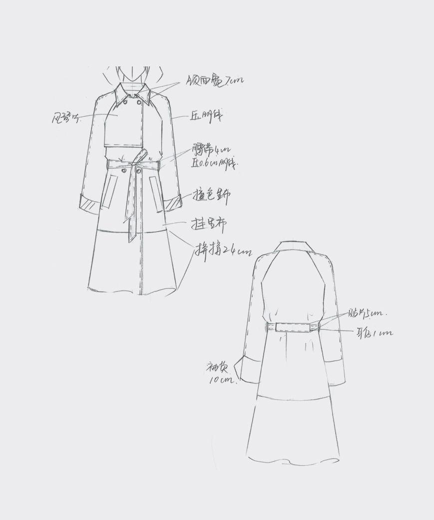 简单的服装设计手稿图